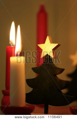 Christmas Decoration And Candles