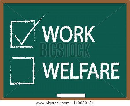 Work or Welfare