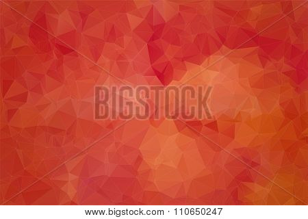 Red abstract background consisting of angular