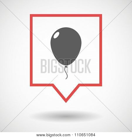Isolated Tooltip Line Art Icon With A Balloon