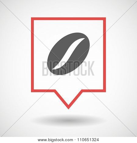 Isolated Tooltip Line Art Icon With A Coffee Bean