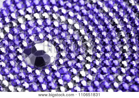 violet and silver texture with crystals