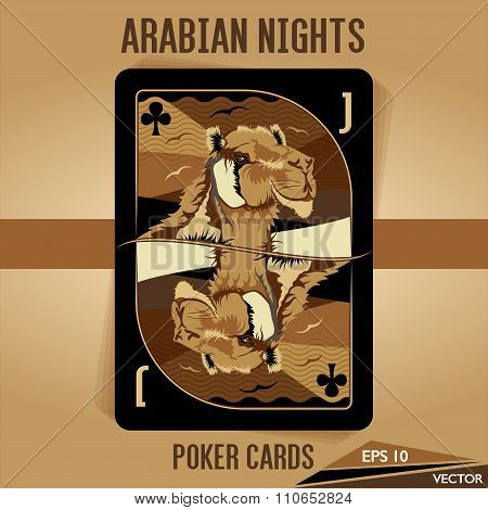 Arabian Nights - Poker Cards - Jack