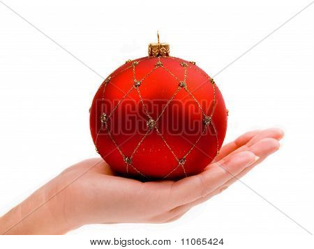 Woman's Hand Holding Ornament