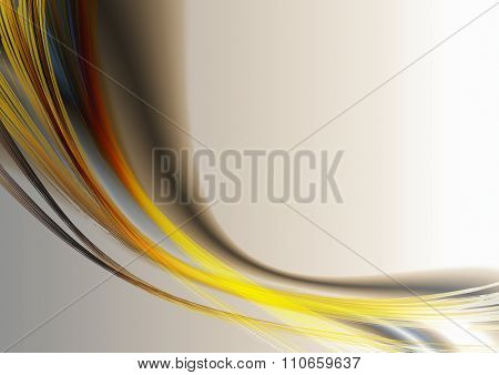 Bright oval strips  and curves on  beige background