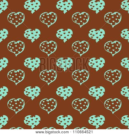 Valentines day seamless with hearts