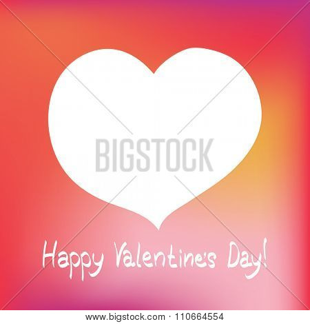 Valentines day postcard with hearts