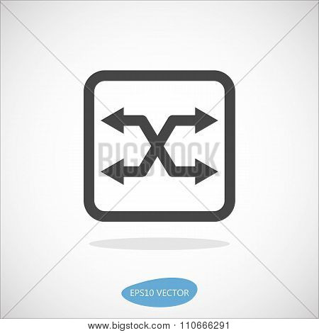 Atm Switch Icon - Isolated Vector Illustration