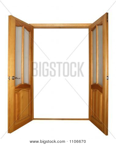 Two-Leaf Door Isolated