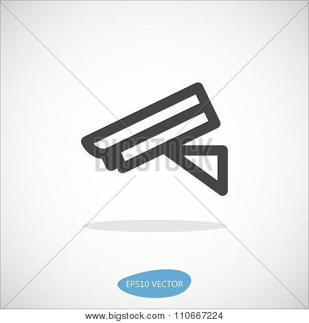 Security Camera Icon - Isolated Vector Illustration