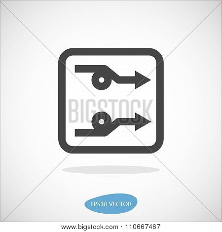 Fiber Optic Access Board Icon - Isolated Vector Illustration