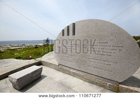 Pegg's Cove  Swissair 111 Public Memorial, Nova Scotia