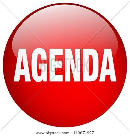 Agenda Red Round Gel Isolated Push Button