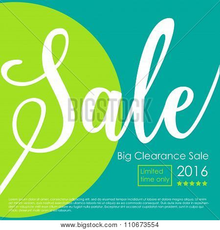 Big Clearance Sale Poster
