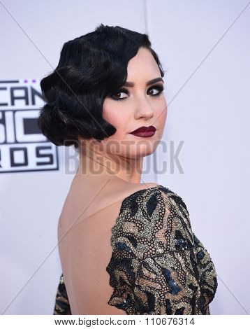LOS ANGELES - NOV 22:  Demi Lovato arrives to the American Music Awards 2015  on November 22, 2015 in Los Angeles, CA.