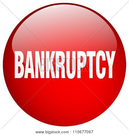 Bankruptcy Red Round Gel Isolated Push Button