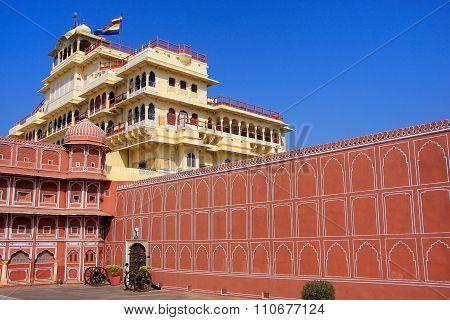 Chandra Mahal In Jaipur City Palace, Rajasthan, India