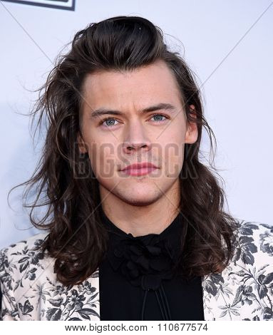 LOS ANGELES - NOV 22:  Harry Styles (One Direction) arrives to the American Music Awards 2015  on November 22, 2015 in Los Angeles, CA.