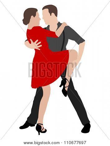 tango dancers  illustration 2