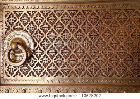 Close Up Of A Door In Rajendra Pol, Jaipur City Palace, Rajasthan, India