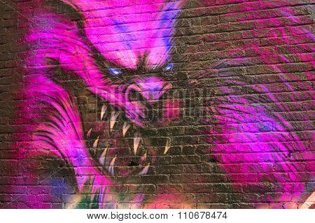 Street art werewolfe.