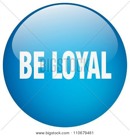 Be Loyal Blue Round Gel Isolated Push Button