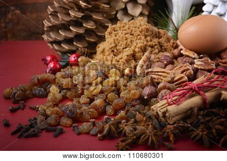 Festive Raw Cooking Ingredients.