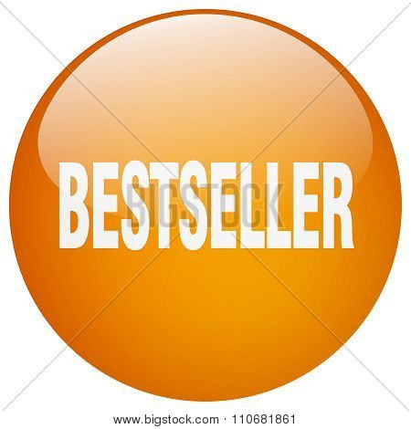 Bestseller Orange Round Gel Isolated Push Button