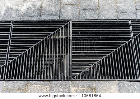 Gray Background Of Drain Cap Cover