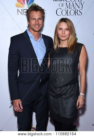 LOS ANGELES - DEC 02:  Rusty Joiner & Charity Walden arrives to the