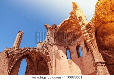 Ruins of St. George of the Greeks Medieval orthodox Church. Famagusta Cyprus