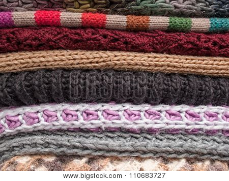 Stack Of Woolen Clothes