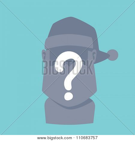 Santa Claus blocked user flat icon vector illustration. Santa Claus cartoot old man gray silhouette. Santa Claus traditional costume. Blocked  icon avatar face. Santa Claus face, face icon. Christmas