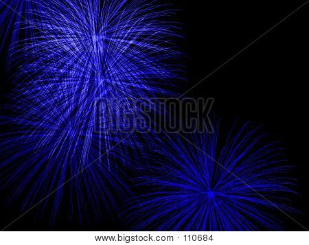 Abstract Fireworks Bursts