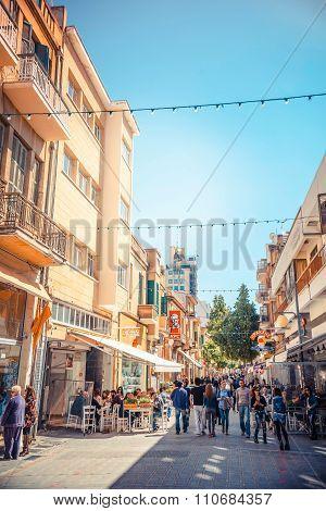 NICOSIA - APRIL 13 : Ledra street a major shopping thoroughfare in central Nicosia on April 13 2015