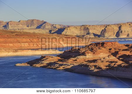 The Famous Glen Canyon Dam Around Lake Powell, Page