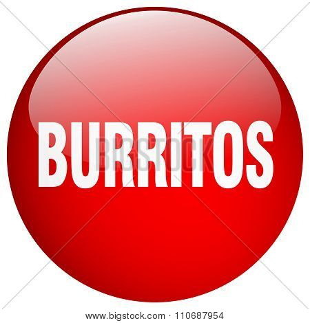 Burritos Red Round Gel Isolated Push Button