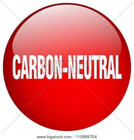 Carbon-neutral Red Round Gel Isolated Push Button