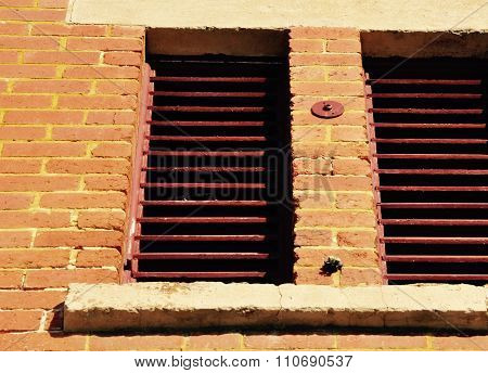 Old Window Detail: Slat Awnings