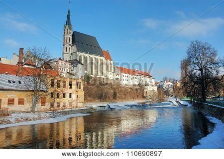 Old town Cesky Krumlov in sunny day
