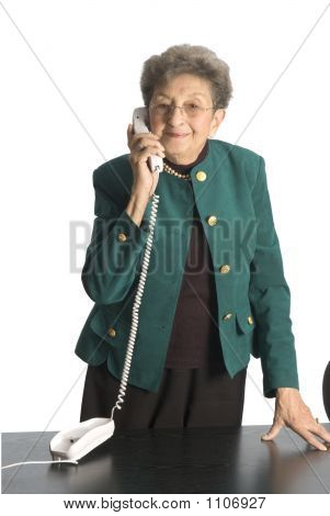 Business Woman Mature On Phone