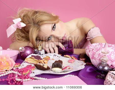 Drunk Party Princess Pink Fashion Woman