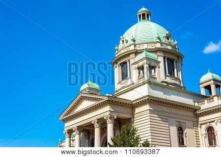 House of the National Assembly. Belgrade Serbia.