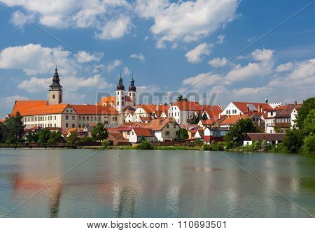 Telc is one of most beautiful towns in Southern Moravia, Highlands Region. The historical centre belongs to UNESCO. Czech Republic