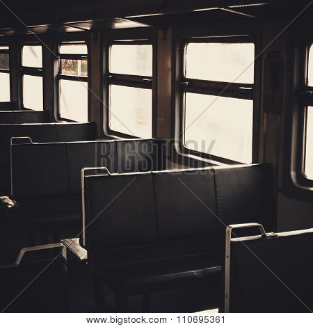 Seats Near The Window Of Wagon