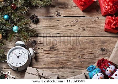Christmas Tree With Christmas Decorations And Christmas Presents