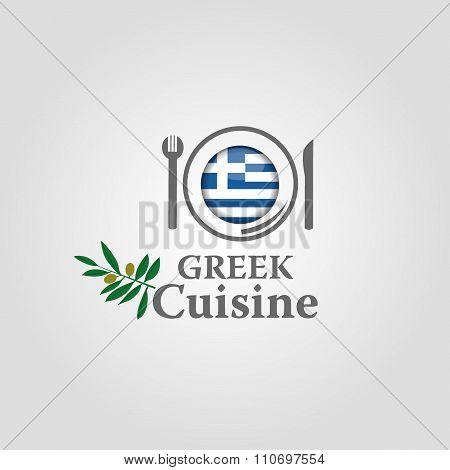 Greek cuisine icon