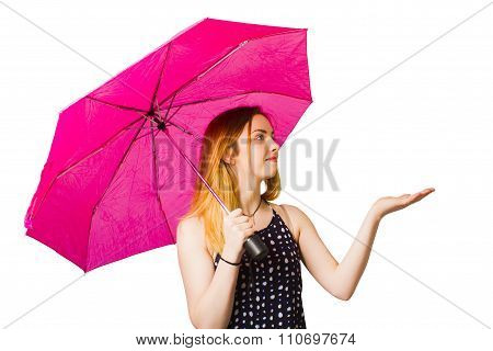 Girl Feeling The Rain When Living In The Moment