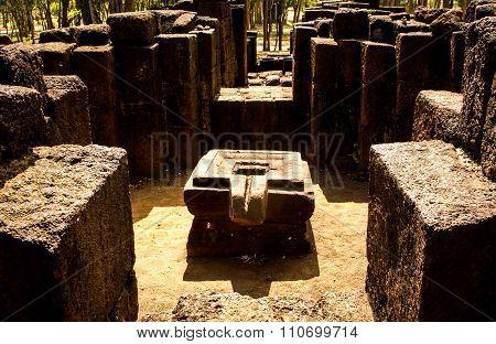 Platform Of Hidu Phallic Symbol
