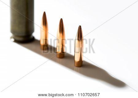 Macro shot of bullet